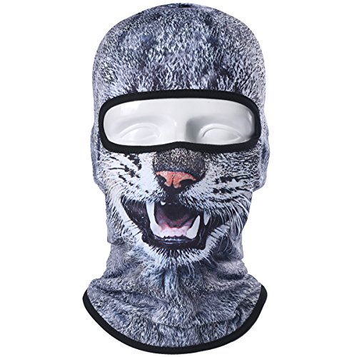 WTACTFUL Animal Balaclava Face Mask Breathable Wind Dust UV Helmet Liner Protection Skiing Snowboard Snowmobile Cycling Motorcycle Driving Riding Biking Fishing Hunting Music Festival Halloween BNB100 ()