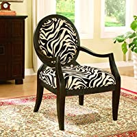 Williams Home Furnishing 1979 Zebra Occasional Chair, Multicolor