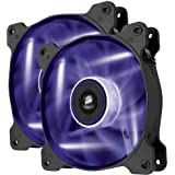 Corsair Air Series AF120 LED Quiet Edition High Airflow Fan Twin Pack - Purple