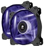 Corsair Air Series AF120 LED Quiet Edition High Airflow Fan Twin Pack - Purple