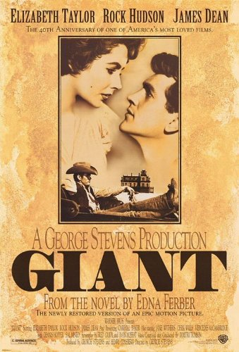 GIANT MOVIE POSTER 2 Sided ORIGINAL 40TH ANN. 27x40 JAMES