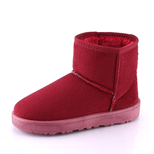 Women Women Warm Wine Warm Red Boots Boots Red Wine Warm q7qwtEY
