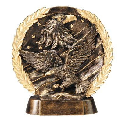 Order Fast Awards Elegant High Relief Resin Eagle Award Free Engraving (Relief Resin)