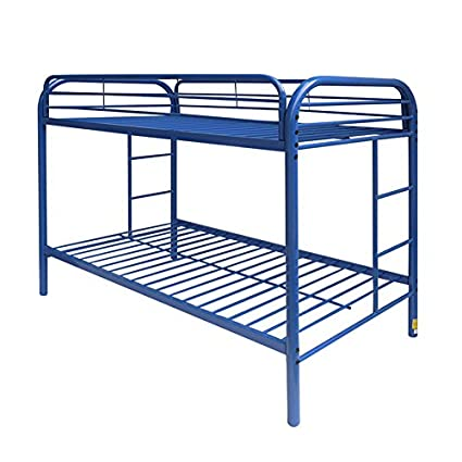 Amazoncom Acme Furniture 02188bu Thomas Bunk Bed Twin Blue