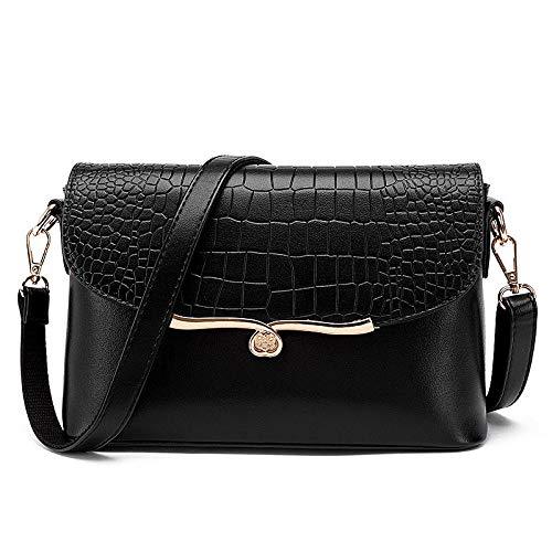 dae0bbe3ce Tzq Lavoro × Borsa 27 Tracolla 18 9 Donna Black Messenger Viaggi Bag Cm  Modello A Ufficio Crocodile Per ...