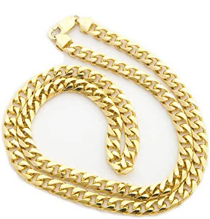 Men's Solid 14k Yellow Gold 6.5mm Heavy Miami Cuban Link Chain Necklace, 22
