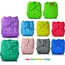JinoBaby Superfine Prefold Cloth Diapers Plain Color(Pack of 9)