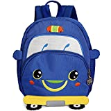 Zoo Small Bee Toddler Backpack with Leash Kids Kindergarten Chest Strap Knapsack