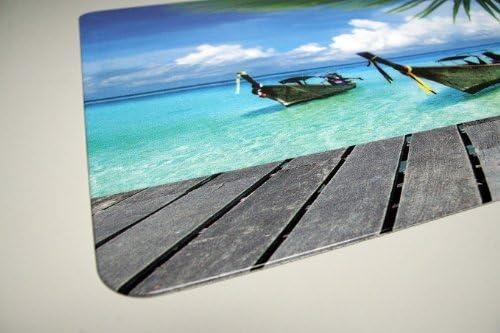 Idena Schreibunterlage Strand Palme Schreibtisch Unterlage 68x44cm transparent