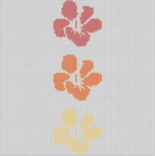 Hawaiian Flowers Cross Stitch - Hawaiian Cross Stitch