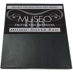 "Museo Silver Rag, Archival Fine Art Gloss Inkjet Paper, 300gsm, 15mil, 13x19"", 25 Sheets."