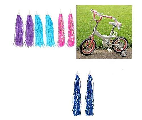 1 Para Kinder Fahrrad Lenker Streamer-Paar Paar Trike Roller Handgriff Band Retro Fahrrad Grips Sparkle Quaste Band Lila kriVEY9