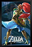 Pyramid America Legend of Zelda Breath of The Wild Vah Naboris Video Gaming Framed Poster 14x20 inch