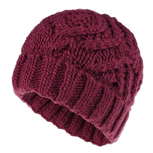 FANCYGIRL Men's Women's Warm Winter Hats Acrylic Knit Cuff Beanie Cap Daily Beanie Hat