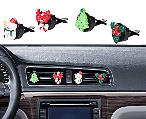 Car Christmas Decorations, Mini Factory Auto Glitter Interior Decor Air  Vent Accessories Decorative Bling Parts For Christmas / Winter