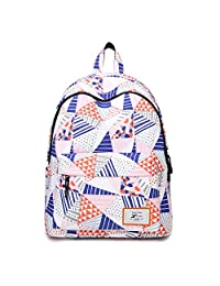 "Artone Geometry Triangle Water Resistant Big Capacity Backpack Padded School Daypack Fit 15"" Notebook Pink"