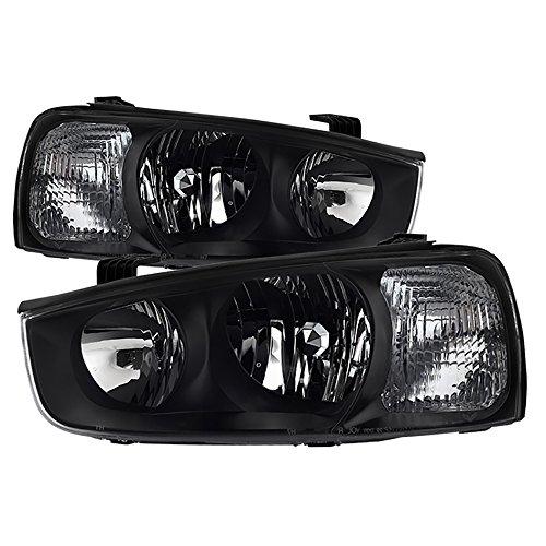 VIPMotoZ 2001-2003 Hyundai Elantra Headlights - [Factory Style] - Matte Black Housing, Driver and Passenger Side