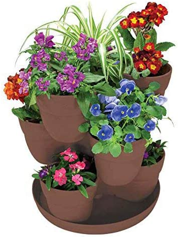 9-Plant Stackable Tower Planter
