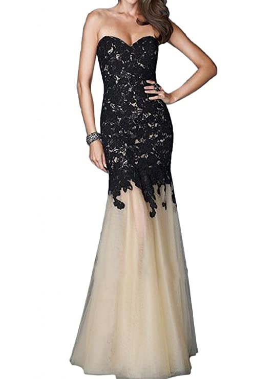 Sunvary Fancy Mermaid Lace Prom Dress Pageant Dress for Evening Long at Amazon Womens Clothing store: