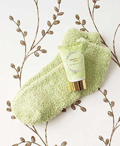 The Lakeside Collection Cozy Sock and Lotion Gift Box Sets - Coconut Lime
