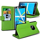 (US) Blackberry Priv Leather Wallet Case Cover (Green) Plus Free Gift, Screen Protector and a Stylus Pen, Order Now Best Valued Phone Case on Amazon! By FinestPhoneCases