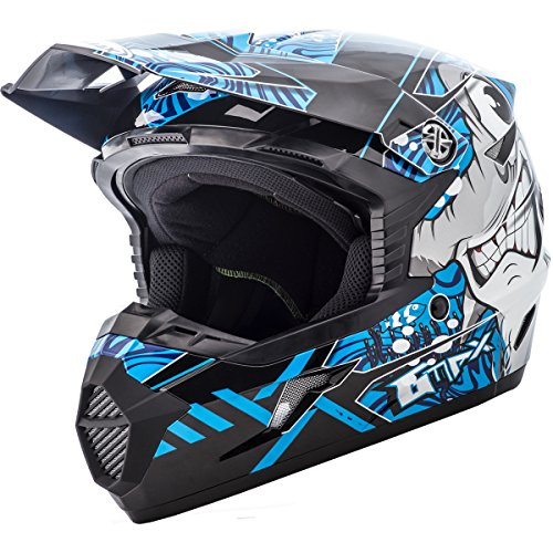 GMAX Unisex-Adult Full-face Style G3468211 TC-2 Mx46 Hooper Helmet Black/Blue ym (Youth Medium) ()