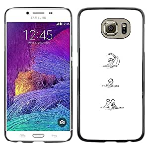 Be Good Phone Accessory // Dura Cáscara cubierta Protectora Caso Carcasa Funda de Protección para Samsung Galaxy S6 SM-G920 // White Black Sketch Love Woman Man
