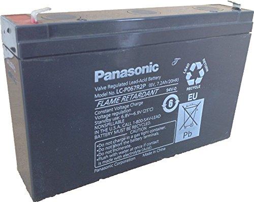 Lead acid battery (Panasonic), Panasonic: LC-P067R2P (Faston 187 - 4,8mm) AKKU 6-7,2P (F187) Panasonic(LC-P067R2P) (Panasonic Sla Batteries)