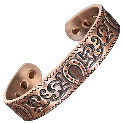 - Mens Womens Copper Magnetic Bracelet – Lucky Horseshoe | Copper Magnetic Bracelet for Arthritis | Celtic Bracelets for Men Women | Health Bracelet–HSC (Medium: Wrist size 16-19.5cm (6¼-7¾in))