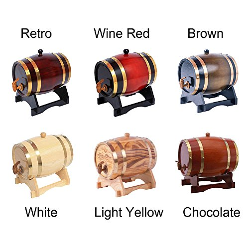3L Oak Barrel Wooden Barrel for Storage or Aging Wine & Spirits Wine Barrels Wine Holder (Brown) by AIMEE-JL (Image #6)