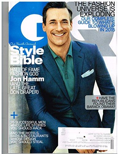 G Q Magazine (Apr 2015) Fourth Annual Style Bible Featuring: Jon - Style Jon Hamm