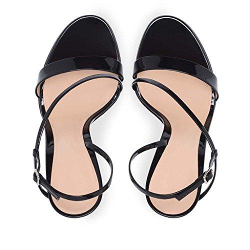 Zapatos Zapatos Del Sandalias Hebilla Punta Las Alto Cena Grande Con o Palabras Boda Charol Tama De Banda Puntiagudo Bien Zapatos La Altura Para Con Abierta De Demasiado Discoteca Tal Mujeres De De xaRqzAR