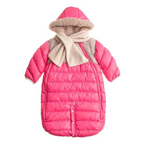 7AM-Enfant-Doudoune-One-piece-Infant-Snowsuit-Bunting-Neon-PinkBeige-Large