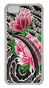 iPhone 5C Case and Cover - Peony I Polycarbonate Hard Case Back Cover for iPhone 5C Transparent
