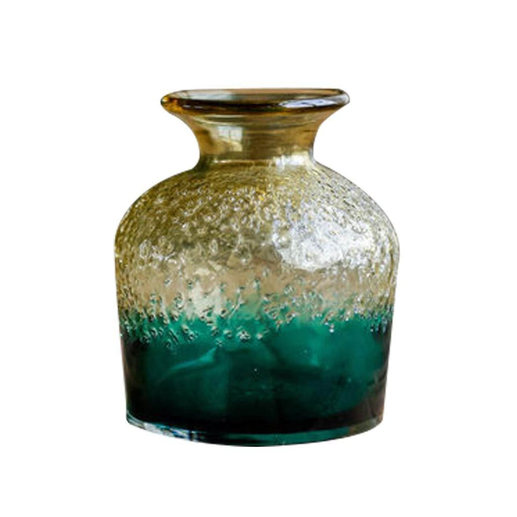 リビングルームの装飾、水の文化、フラワーアレンジメント、造花、透明な手作りのガラス花瓶 LQX B07R132H87