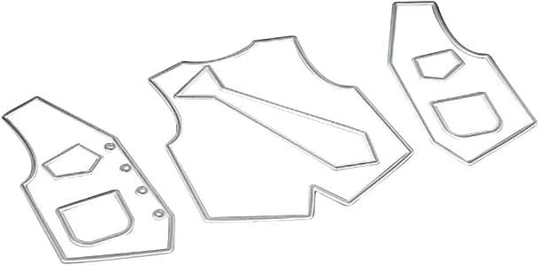 Corbata de ropa con forma de corte, troquelado, sello de carbono ...