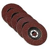 50Pcs 125mm Flap Sanding Disc Wheel 40/60/80/100/120 Grit Angle Grinder Sanding Wheel