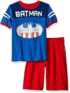 Warner Brothers Boys' 2 Piece Batman Tee and Twill Short Set at Gotham City Store