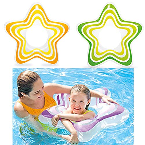 m·kvfa Adult Swimming Float Large Water Inflatable Bed Beach Vacation Fruit Floating Baby Pool Inflatable Pool Swimming Pool Children's Play Pool Floating Row Floating Bed Drifting (Random(3pcs))