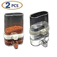Hamiledyi Bird Waterer Bird Feeders Bird Feed Water Dispenser Clear Pet Feeder Water Cup with Automatic Feeding(Pack of 2) (2bird Feeder)