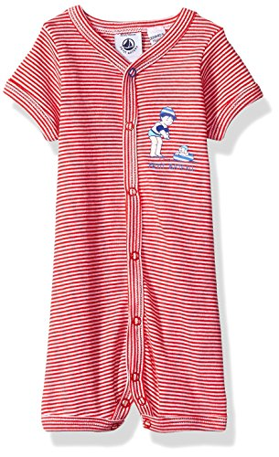 (Petit Bateau Baby Boys' Fenouil, Red/White, NB)