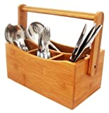 Home Basics Bamboo Flatware Caddy