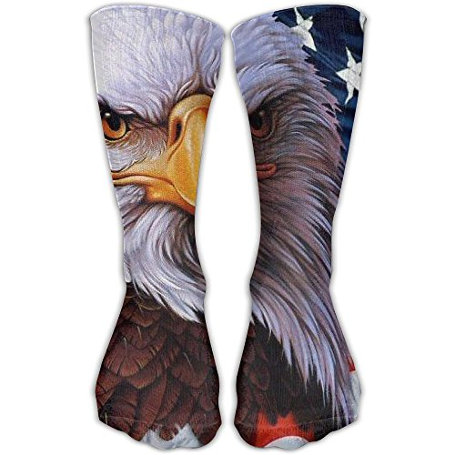 American Flag Eagle Women & Men Socks Soccer Sport Tube Stockings Length 30cm -