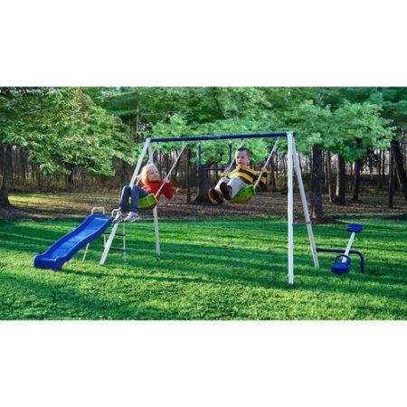 Flexible Flyer Fun Time Metal Swing Set by Flexible Flyer