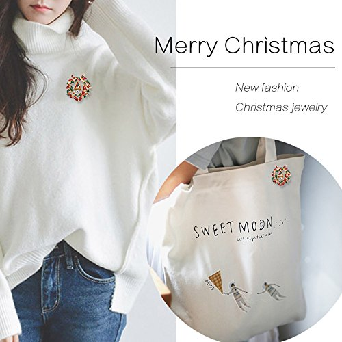 Ja and South Korea female high-grade diamond brooch Chrisas bells brooch bouquet sweater igan coat Chrisas gift accessories ()