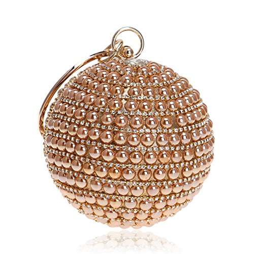 Soirée Globular À Multicolore Perle Robe Strass Gold en Mariage Sac Main Chaîne Sacs Femmes Clutchs Orfila Épaule De w5RqxgI7tv