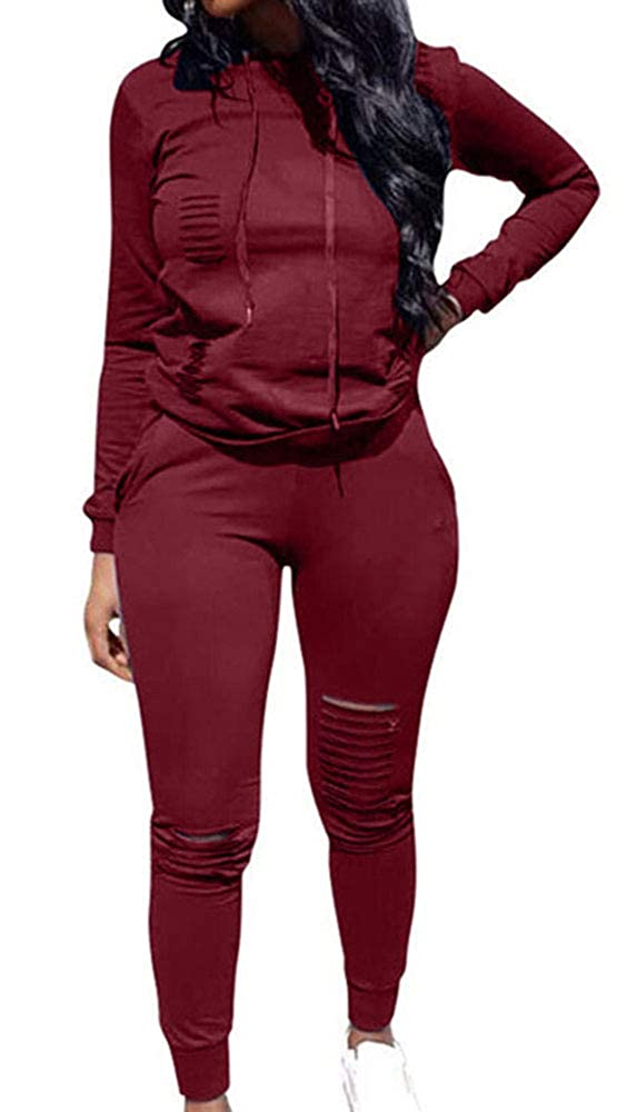Women 2 Pieces Sports Outfits Long Sleeve Top and Long Bodycon Pants Sweatsuits Set Tracksuits