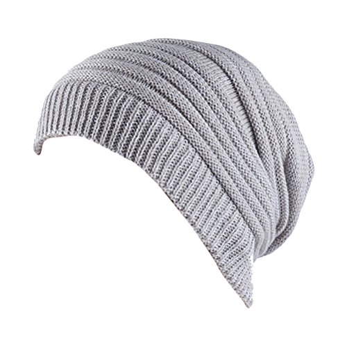 Cap Thick Gorros Women's Slouchy Knit Ski de Zhhlaixing Beanie Men's Warm Winter punto White amp;Gray Cable Hat Skull ngBqwCxZ