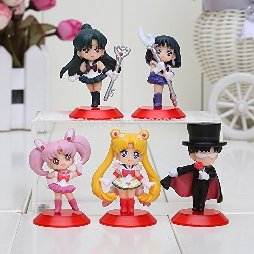 Sailor Moon Minifigures Tsukino Usagi PVC Action Figures Lovely Collectible Toys Dolls Christmas (Sailor Moon Costume Toddler)