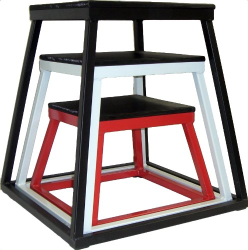 Ader Plyometric Platform Box Set- 12'' Red, 18'' White, 24'' Black